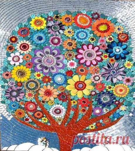 Мозаичные работы для любителей мозаики / Необычные поделки  Leena Nio