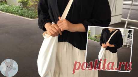 Во всём мире набирают популярность сумки, которые шьются меньше получаса, — делюсь их простой выкройкой | Творческие будни | Яндекс Дзен