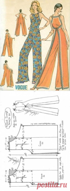 Macacão envelope vintage - DIY - molde, corte e costura - Marlene Mukai