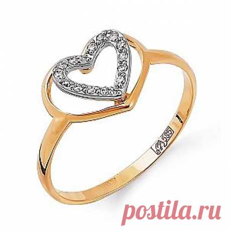 Оригинальное кольцо из красного золота с белыми бриллиантами Купить со скидкой за 6 650 руб
