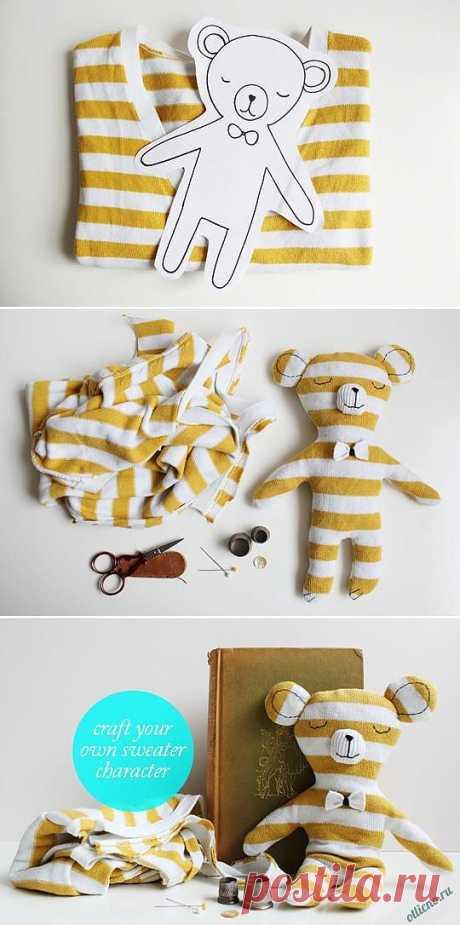 Как сшить Детскую игрушку из свитера или футболки своими руками | Отлично! Школа моды, декора и актуального рукоделия