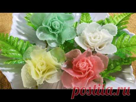 Vegetable Art In Rose -  Radish  Design In to flower & Ornament