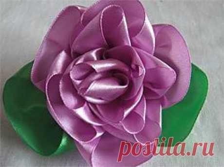 Розы из атласных лент своими руками