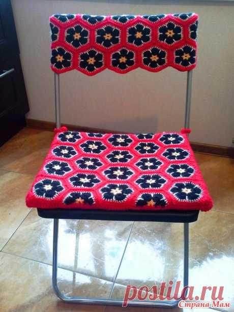 Мой ответ дизайну интерьеров: одежка для стула - Вязание - Страна Мам