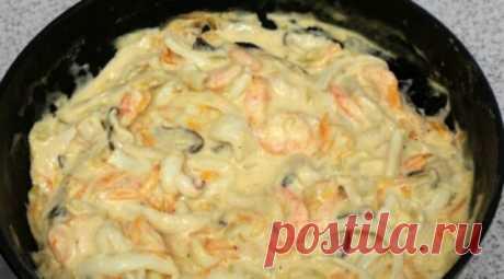 Изумительные морепродукты в сливочном соусе: пошаговый рецепт приготовления