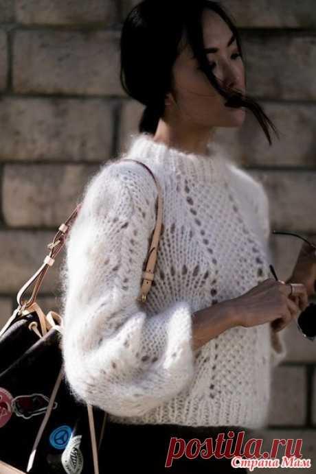 """Вязаный свитер из мохера """"Цитрус"""" или """"Апельсиновые дольки"""", смотрите какой симпатичный, для вдохновения спицами - Страна Мам"""