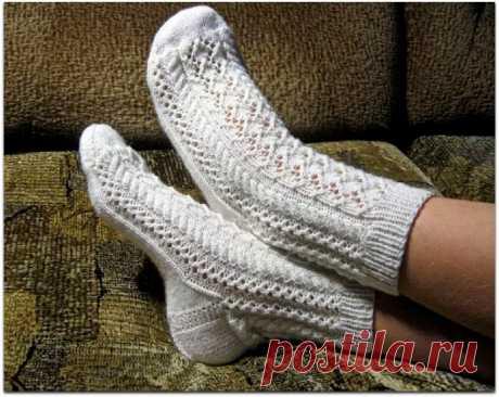 Летом тоже пригодятся ажурные носочки. Красивые варианты спицами | Paradosik_Handmade | Яндекс Дзен