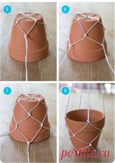Простой дeкор цветочных горшков — Сделай сам, идеи для творчества - DIY Ideas