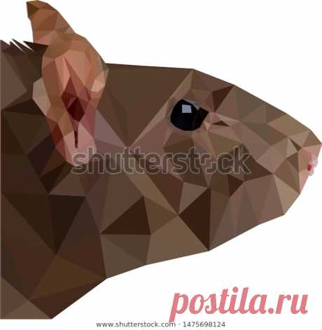Low Poly Mouse Illustration