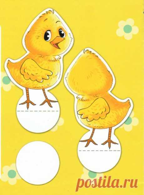 """Пасхальная поделка """"Домик из картона для цыплёнка"""""""