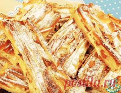 """Греческий сладкий пирог """"Плиссе"""" – кулинарный рецепт"""