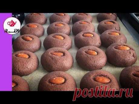 Нежное, тающее и быстрое шоколадное печенье с орешком!