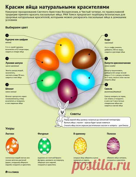 Цветные и в крапинку: чем безопасно покрасить яйца к Пасхе - РИА Томск