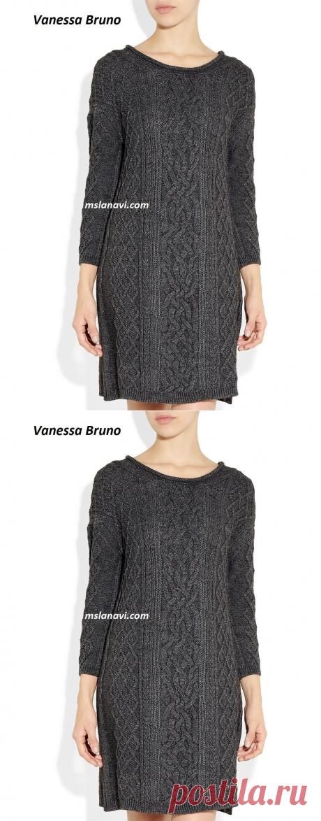 Вязаное платье аранами от Vanessa Bruno Athe - Вяжем с Лана Ви