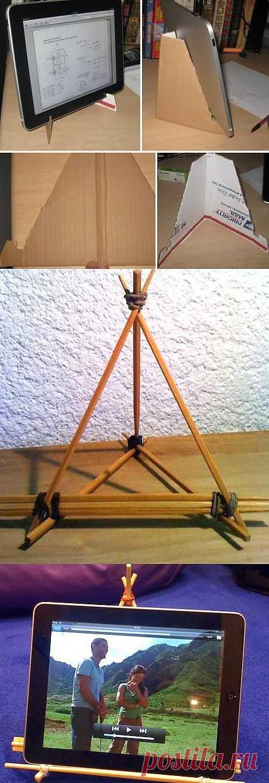Интерьер: подставка для планшета своими руками. JewelCity.ru