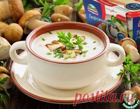 Грибной крем-суп с творожным сыром – кулинарный рецепт
