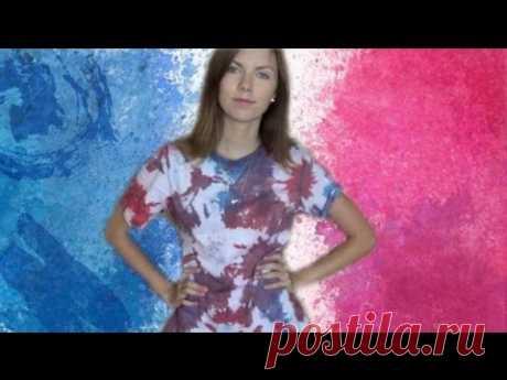 DIY: TIE-DYE. Как покрасить футболку в технике тай-дай ♥ Елизавета Чертоляс