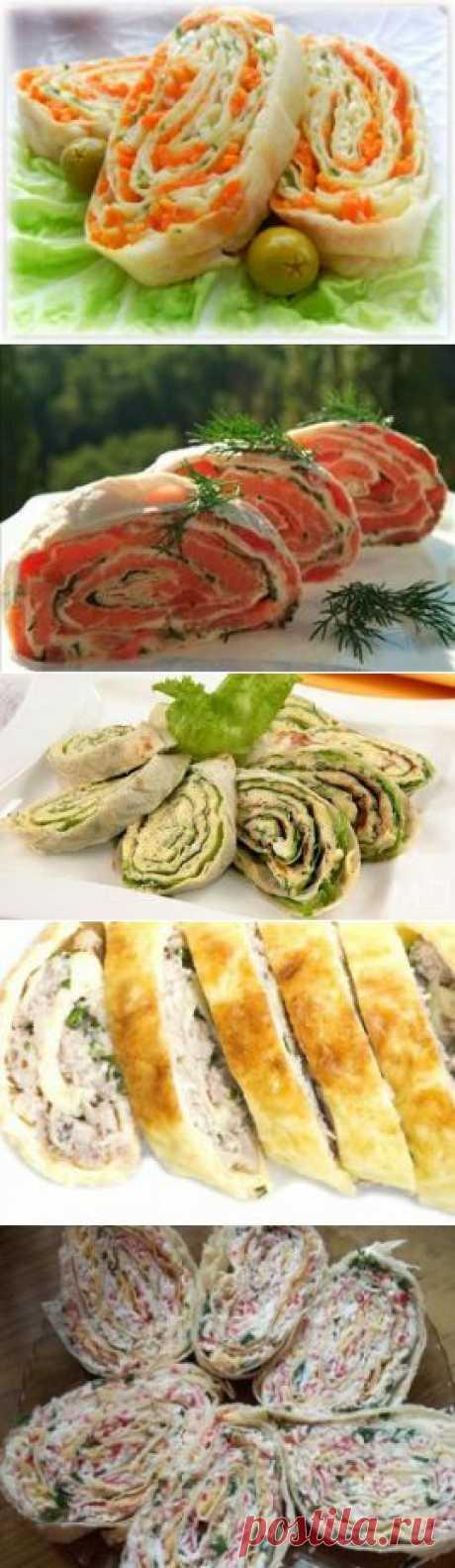 Рулетики из лаваша с начинкой: рецепты блюд для праздничного и повседневного стола
