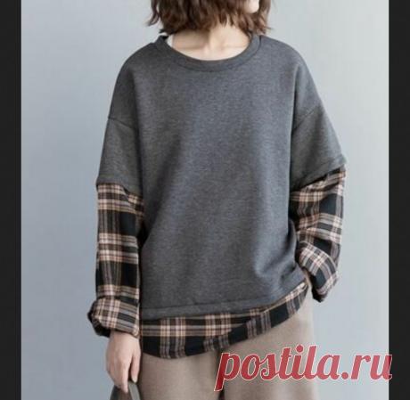 Переделка свитшота и рубашки