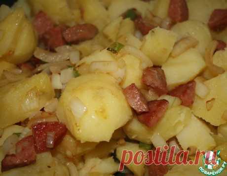 Картофель с фасолью и колбасками – кулинарный рецепт