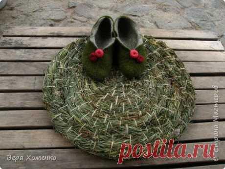 Тарелка ,подставка из травы.Плетение из трав. | Страна Мастеров
