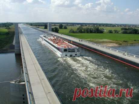 Река над рекой в Германии, Магдебургский водный мост | Европа Сегодня