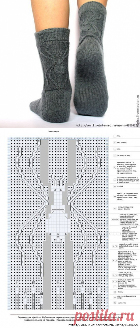 Носки с паучком