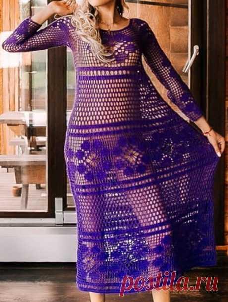 Роскошное платье крючком от Даны Романовой