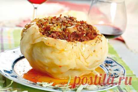 Кочан капусты, фаршированный мясом — Sloosh – кулинарные рецепты