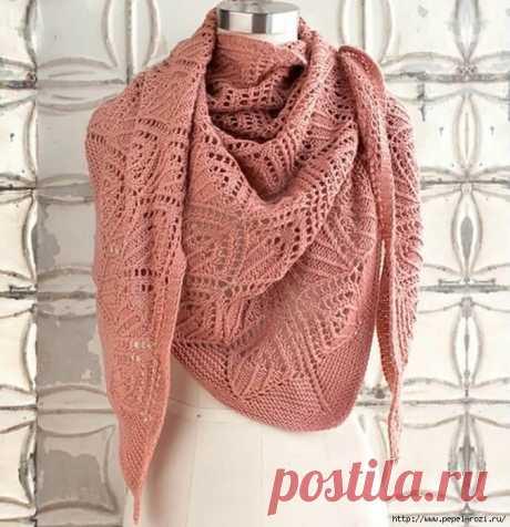 Красивая ажурная шаль во французском стиле