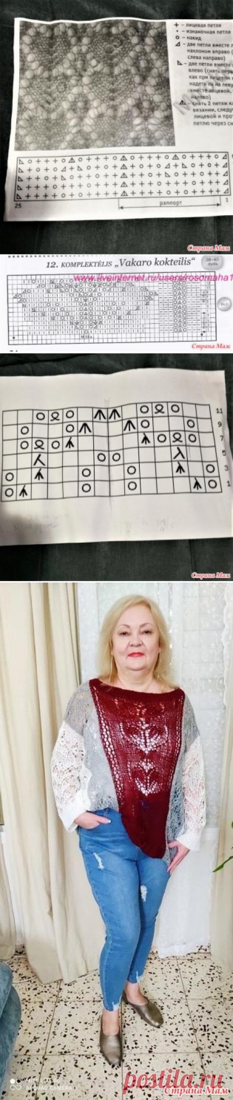 """Ажур в моей тунике """"3 в одном"""" - Вязание - Страна Мам"""