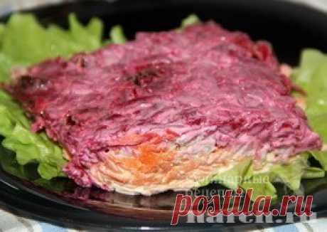 Свекольный салат с мясом «Виталина» | Фоторецепт с подробным описанием от Харч.ру