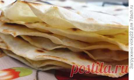 Домашний тонкий лаваш - пошаговый рецепт приготовления с фото