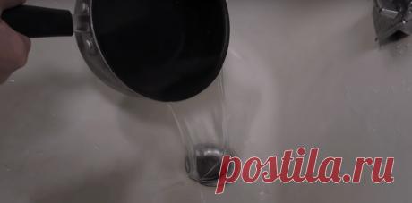 Быстрый способ чистки канализационного стока, который избавит от засоров и запахов за 15 минут - Советы и Рецепты