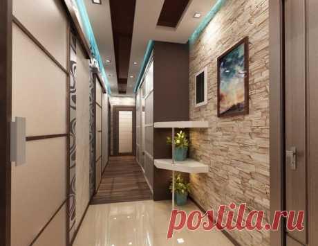 Ремонт коридора  Своими руками ремонт узкого коридора начинают с подготовительных работ. Сначала поверхности стен и потолка очищают от набелов и потрескавшейся старой краски, снимают выцветшие обои. Затем при помощи штукатурных смесей и современных полимерных шпатлевок выравнивают поверхности под лицевую отделку. После этого косметический ремонт коридора заканчивается покраской, а капитальный – только начинается.  Когда делаем ремонт в коридоре, то следует уделить внимание...