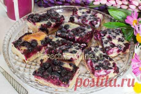 ✔️Пирог с замороженными ягодами в духовке рецепт с фото пошагово