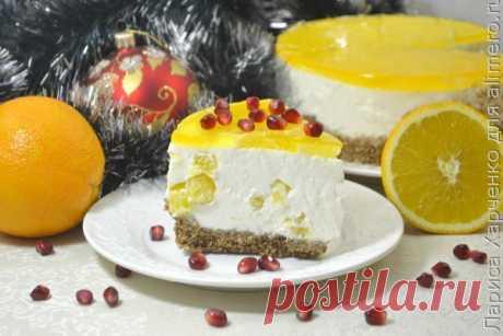 👌 Восхитительный новогодний десерт без выпечки с апельсинами, рецепты с фото Апельсиновый чизкейк – это, пожалуй, самый шикарный вариант десерта на новогодние праздники! Вы спросите меня – почему? Да потому что он очень лёгкий, в меру сладкий, с чудесной ци...