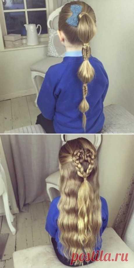 Причёски для маленьких принцесс
