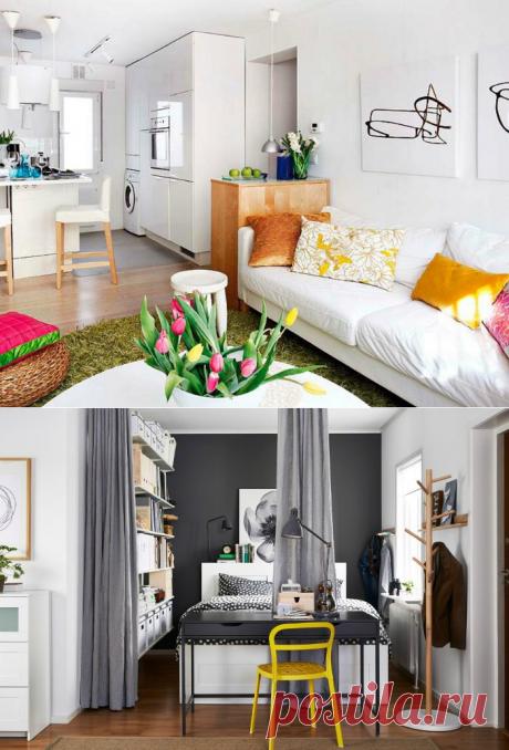 Стильные идеи для оформления однокомнатной квартиры | Роскошь и уют