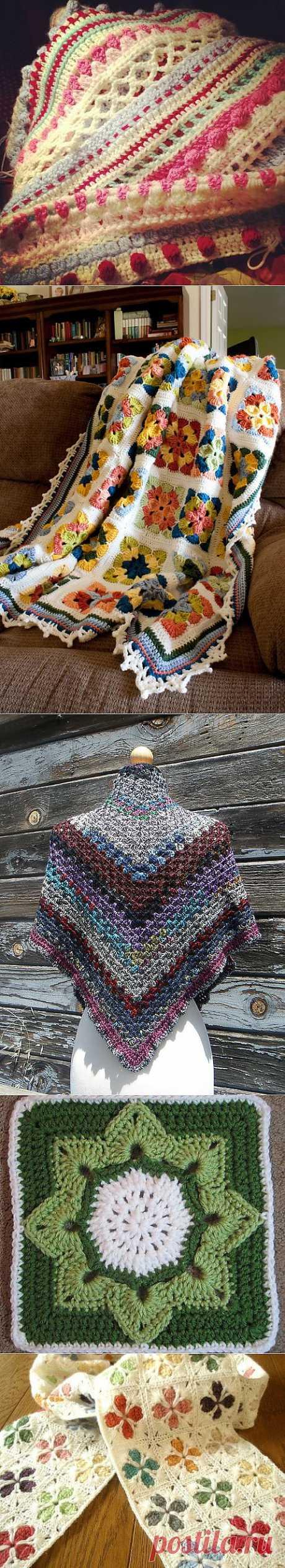 Не только бабушкин квадрат... (идеи для вдохновения).