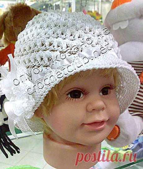 Детская шляпка крючком - Вязание Крючком. Блог Настика