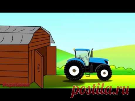 Animated cartoon about the Tractor and Car wash - Animated cartoons for children