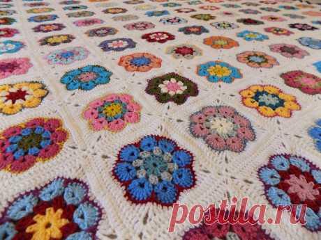Африканские цветы вязания крючком - Вязание крючком работает