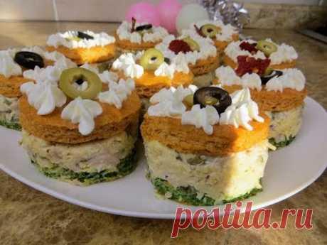 Шикарная Новая Закуска Для Новогоднего Стола / Закусочные пирожные