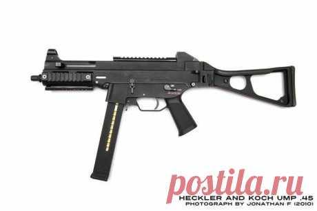 El arma más potente de tiro, la pistola ametralladora UMP45 bajo el cartucho 45 ACP la Pistola ametralladora UMP (Universal Machinen Pistole) la producción de la compañía Heckler famosa alemana de armas y Koch podría y no caer en el rating del arma más potente de tiro, si no la salida...
