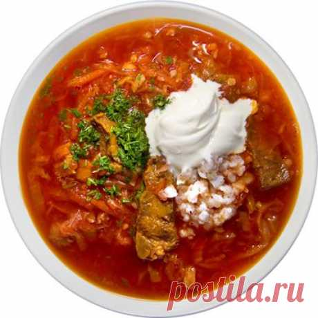 Borsch Ukrainian with meat
