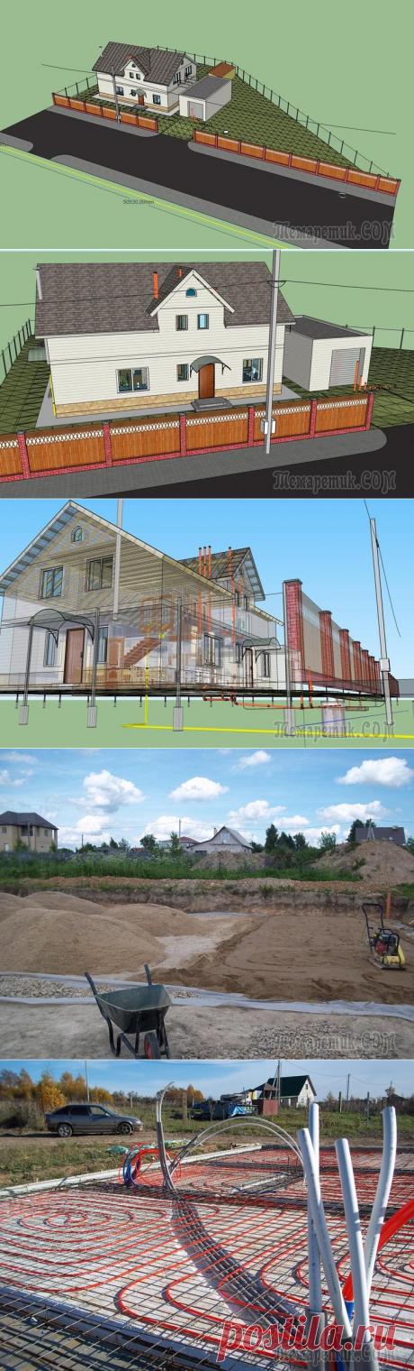 Фундамент УШП своими силами для своего дома за городом.