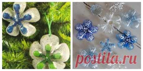 Легкие новогодние украшения из пластика своими руками | diy-idea | Яндекс Дзен