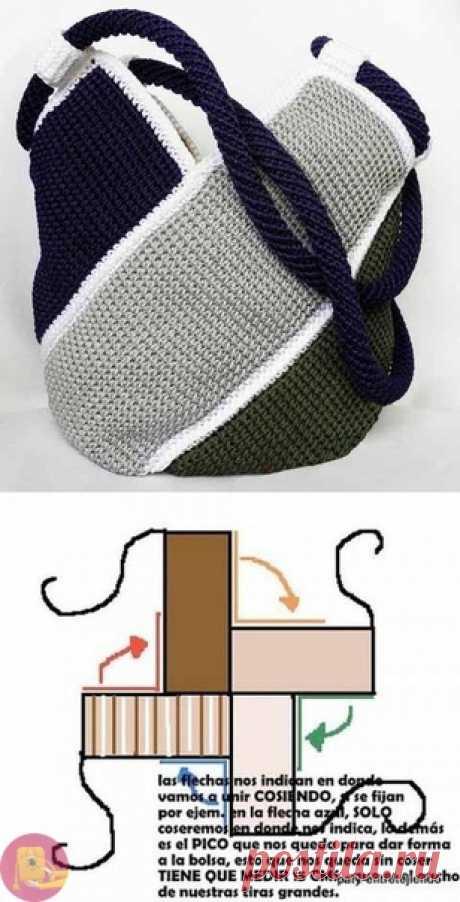 Простая и вместительная сумка крючком — Сделай сам, идеи для творчества - DIY Ideas