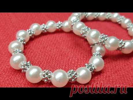 Pearl bracelet/Bead bracelet/how to make a bracelet/Жемчужный браслет/Браслет из бусин/как сделать